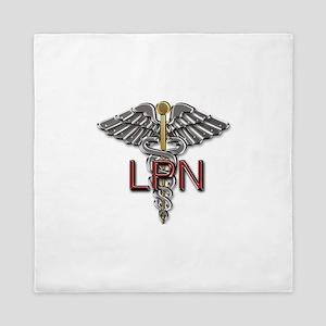 LPN Medical Symbol Queen Duvet