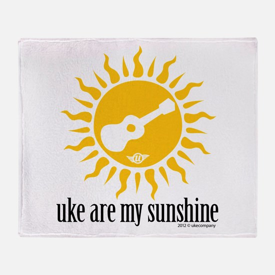 uke are my sunshine Throw Blanket