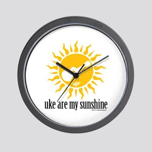 uke are my sunshine Wall Clock