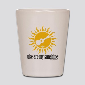 uke are my sunshine Shot Glass