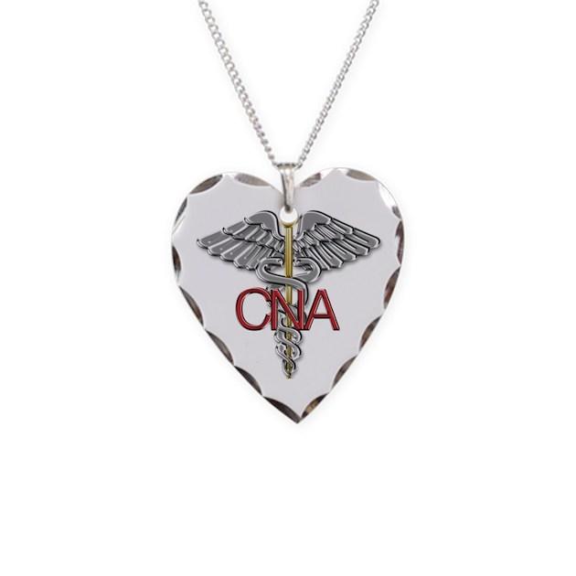 Cna Medical Symbol Necklace By Visualgraphixdesign