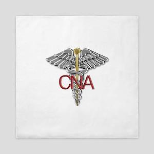 CNA Medical Symbol Queen Duvet