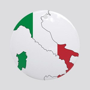 Italy Flag and Map Ornament (Round)