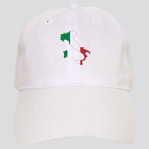 Italy Flag and Map Cap