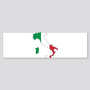 Italy Flag and Map Sticker (Bumper)