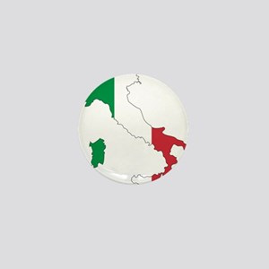 Italy Flag and Map Mini Button