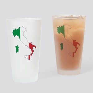 Italy Flag and Map Drinking Glass