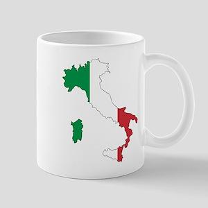 Italy Flag and Map Mug