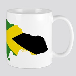 Jamaica Flag and Map Mug