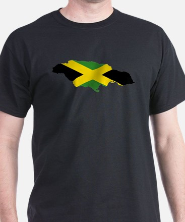 Jamaica Flag and Map T-Shirt