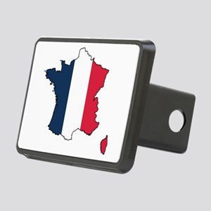 Flag Map of France Rectangular Hitch Cover