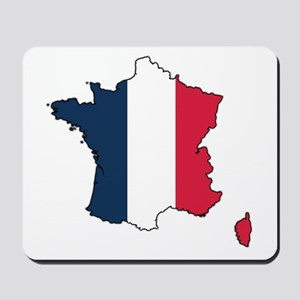 Flag Map of France Mousepad
