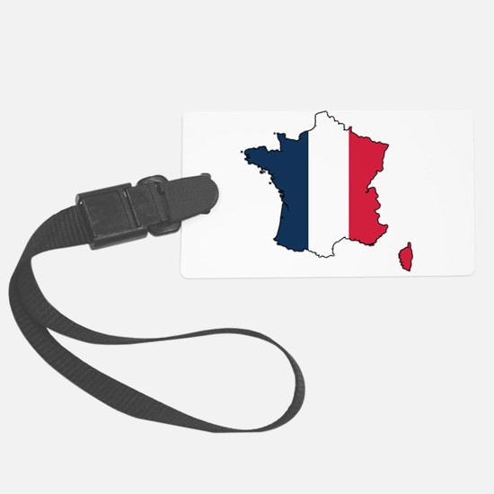 Flag Map of France Luggage Tag