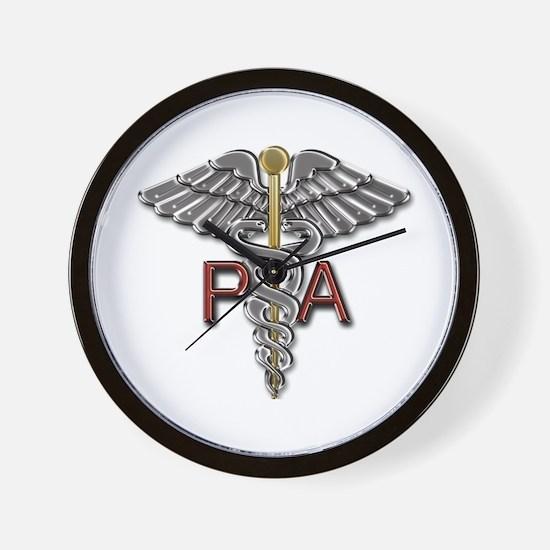 PA Medical Symbol Wall Clock