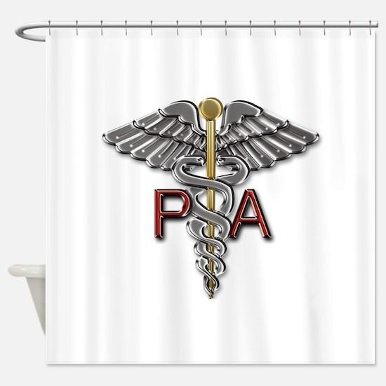 PA Medical Symbol Shower Curtain