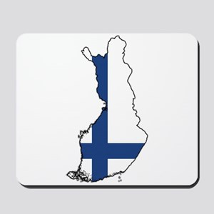 Flag Map of Finland Mousepad