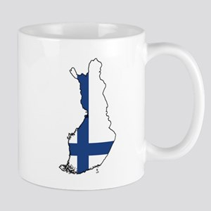 Flag Map of Finland Mug