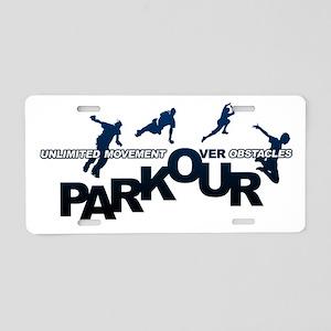 parkour3 Aluminum License Plate