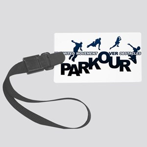 parkour3 Large Luggage Tag