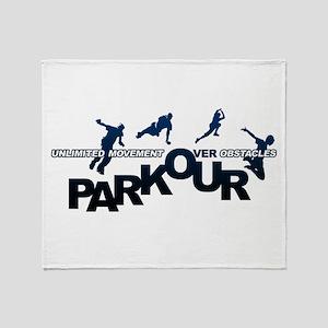 parkour3 Throw Blanket