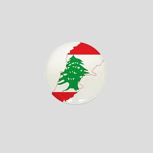 Lebanon Flag and Map Mini Button