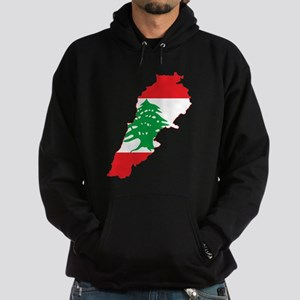 Lebanon Flag and Map Hoodie (dark)