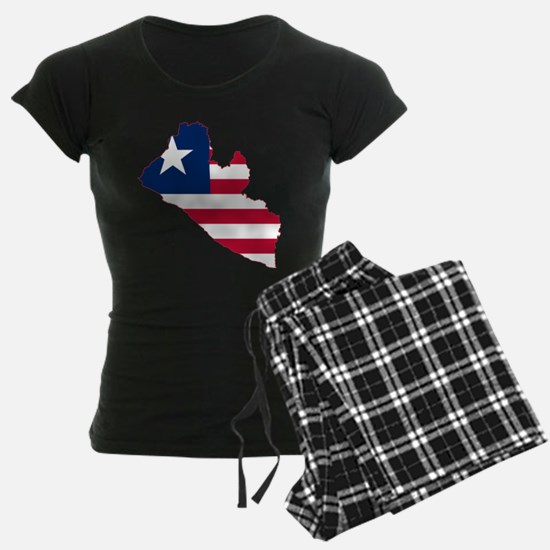 Liberia Flag and Map Pajamas