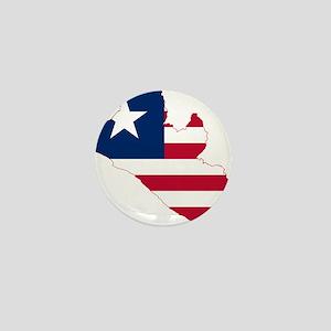 Liberia Flag and Map Mini Button