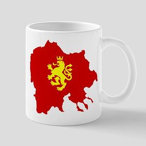Macedonia Lion Flag and Map Mug