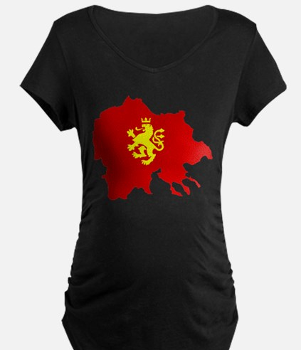 Macedonia Lion Flag and Map T-Shirt