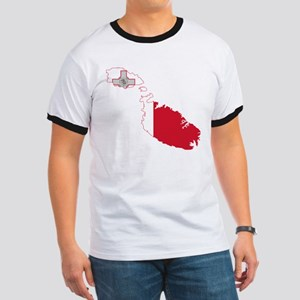 Malta Flag and Map Ringer T