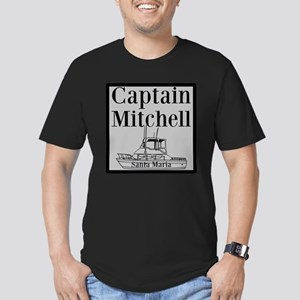 Personalized Captain Men's Fitted T-Shirt (dark)