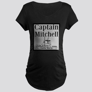 Personalized Captain Maternity Dark T-Shirt