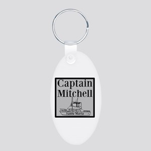 Personalized Captain Aluminum Oval Keychain