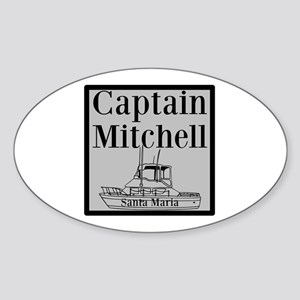 Personalized Captain Sticker (Oval)