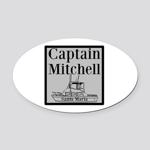 Personalized Captain Oval Car Magnet