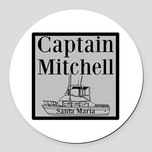 Personalized Captain Round Car Magnet