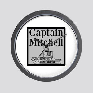 Personalized Captain Wall Clock