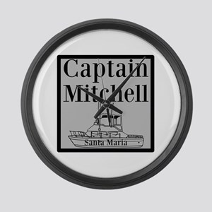 Personalized Captain Large Wall Clock