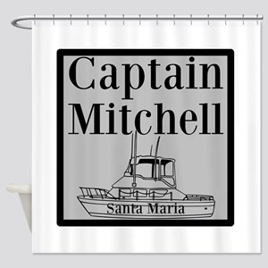 Personalized Captain Shower Curtain