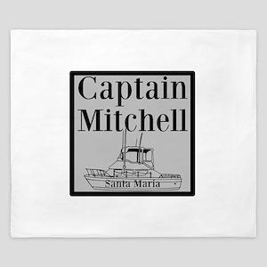 Personalized Captain King Duvet