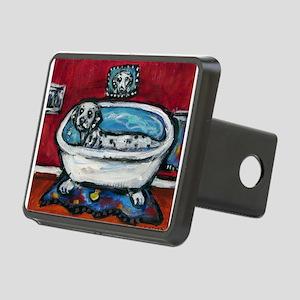 Dalmatian whimsical bath Rectangular Hitch Cover