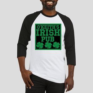 Personalized Irish Pub Baseball Jersey