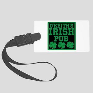 Personalized Irish Pub Large Luggage Tag