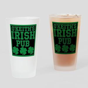 Personalized Irish Pub Drinking Glass