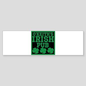 Personalized Irish Pub Sticker (Bumper)