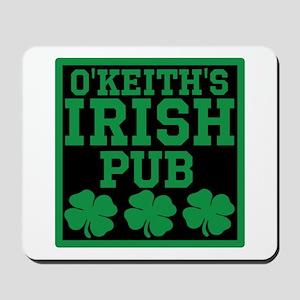 Personalized Irish Pub Mousepad