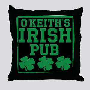 Personalized Irish Pub Throw Pillow