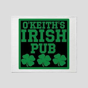 Personalized Irish Pub Throw Blanket