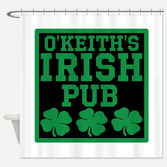 Personalized Irish Pub Shower Curtain